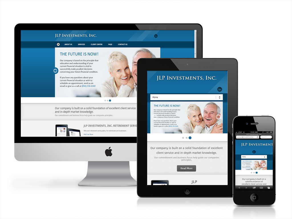 Client: JLPInvestments - Project: Website Re-design; Website Development; Branding; Marketing Consulting; Email Marketing